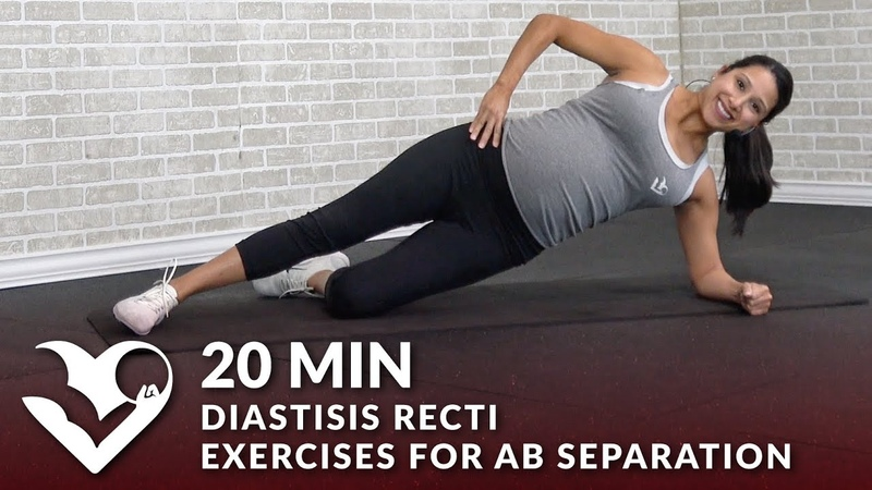 20 Min Diastisis Recti Exercises for Ab Separation During After Pregnancy - Abdominal Workout