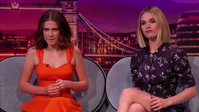 Lily James and Millie Bobby Brown Are Very Superstitious LateLateLondon 720p