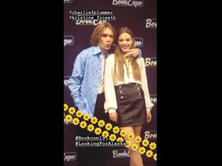 Charlie Plummer and Kristine Froseth at BookCon 2019
