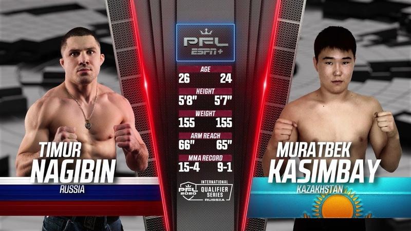 Timur Nagibin vs Muratbek Kasimbay Full Fight 2020 PFL International Qualifier Series Russia