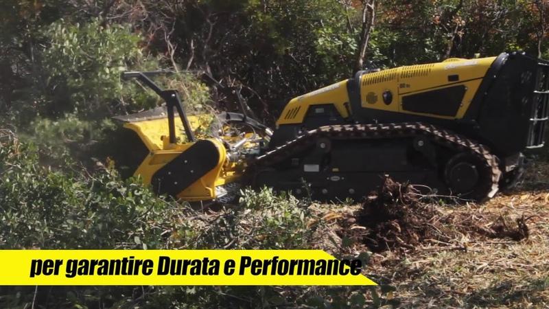 Компактный лесной мульчер робот RoboMAX Forestry 150 T Energreen