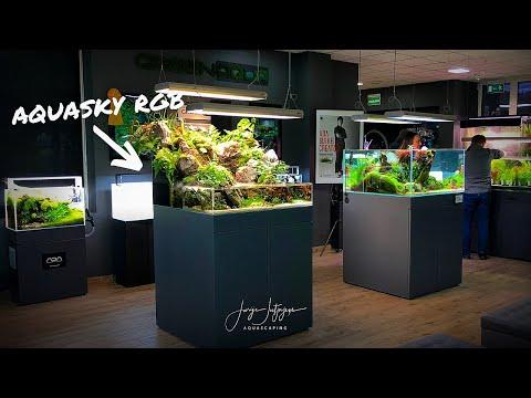 NEW Amazing Aquascapes at GreenAqua Jan 2020 sneak preview of AQUASKY RGB