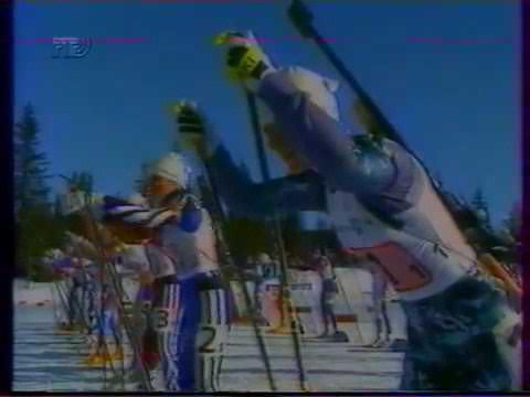 Олимпийские игры Лиллехаммер 1994. Биатлон. Эстафета. Женщины. 4х7,5 км
