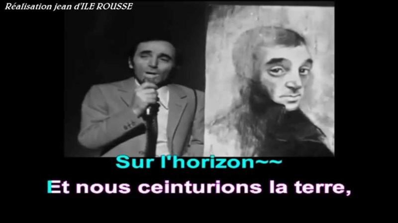 Charles Aznavour - Le palais de nos chimères - Karaoké avec guide vocal .(version lente)