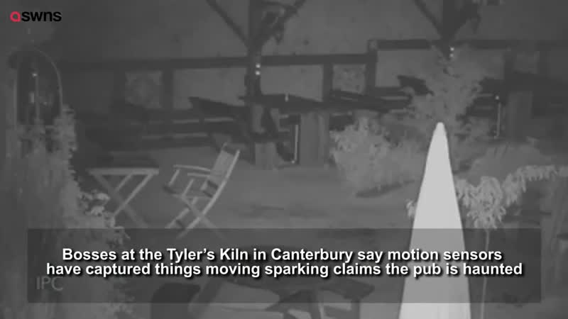 Pub reckons it might be haunted after poltergeists were spotted on camera throwing furniture around