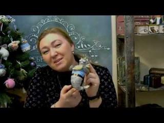 Мастер-класс от Елены Васько: делаем кота из ваты.