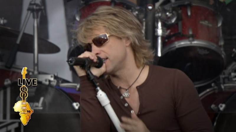Bon Jovi Livin' On A Prayer Live 8 2005
