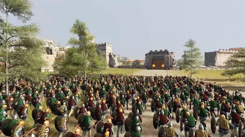 5000 ROYAL SCYTHIA VS 5000 ROME - MASSIVE SIEGE TOTAL WAR ROME 2 (CINEMA)