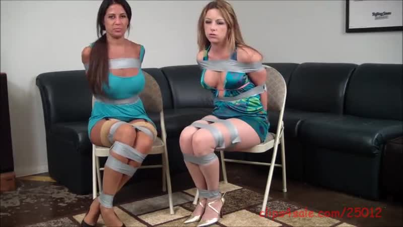 Two Milfs Taped up -