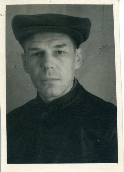 Б.А. Маслов в лагере. 1950 год.