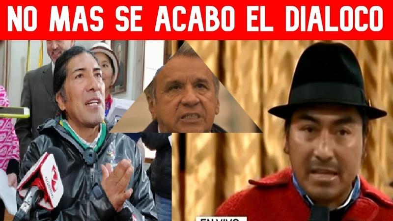 Leonidas Isa y Yaku suspenden el DIALOGO afirman que Lenin no cumple su PALABRA