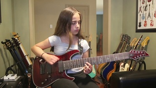 Four Lights - Periphery 8 String Guitar Cover - Anastasia B - 13 year old guitarist