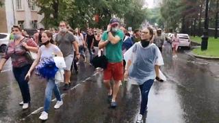 Хабаровск. ВСЯ колонна за 5 минут. Шествие 1 августа
