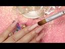 Uñas Vintage Super Bonitas Con Foil Floreado en Difuminado y Cristales