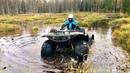 Езда по болоту на квадроцикле Малыш переросток вытащил всех