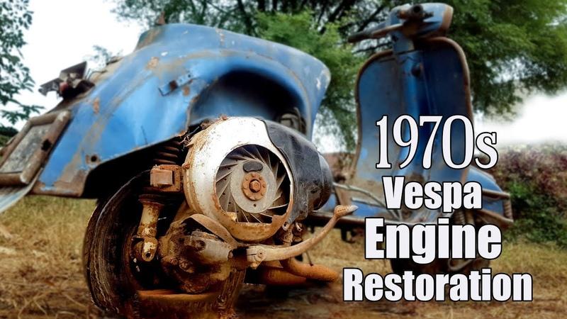 Restoration of 1970s Italian Vespa 150cc Engine Tear Down Disassembling of Piaggio Engine