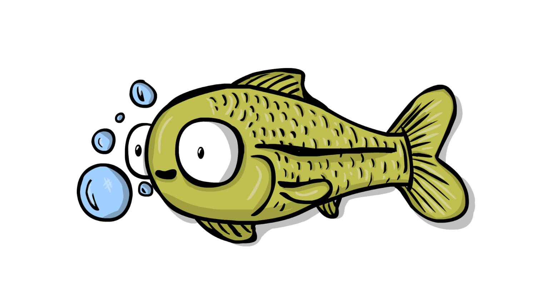 некоторых анимационные картинки для презентаций рыба справа