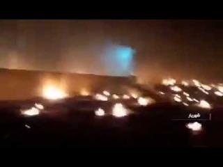Первые минуты после падения боинга МАУ в Тегеране