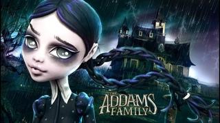 Doll Figurine Repaint WEDNESDAY ADDAMS The Addams Family | Halloween | | Monster High Ooak Repaint