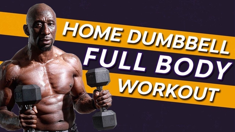 Home Dumbbell Full Body Workout Superset Circuit