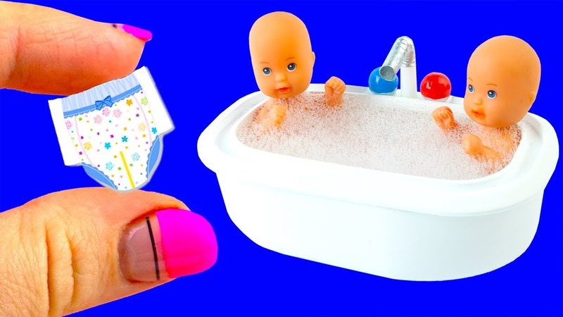 31 DIY Barbie Baby Hacks and Crafts Miniature Baby Bath Tub Bags Bottles and more