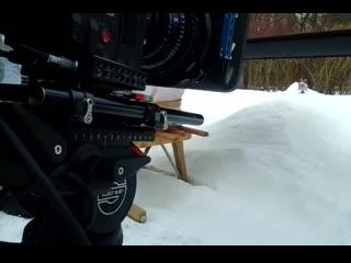 На съемках серии 'Снег' (Малышарики)