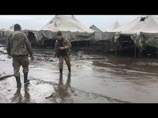 Українське військо на навчаннях на полігоні Широкий Лан тоне в багнюці