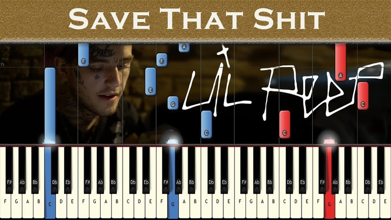 Lil Peep - Save That Sh*t | Best Version | Piano tutorial