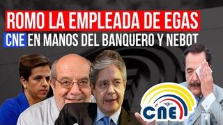 ROMO LA EMPLEADA DE FIDEL EGAS / CNE EN MANOS DE NEBOT Y LASSO
