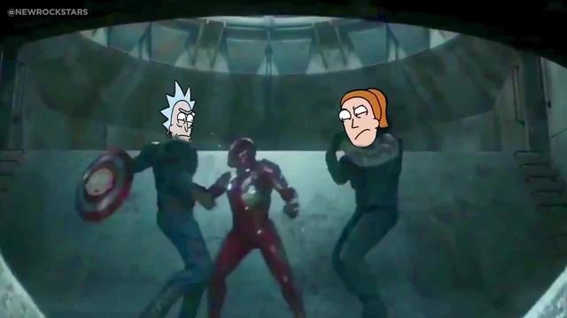 Rick and Summer Beat Up Iron Man (Rick and Morty Civil War Parody)