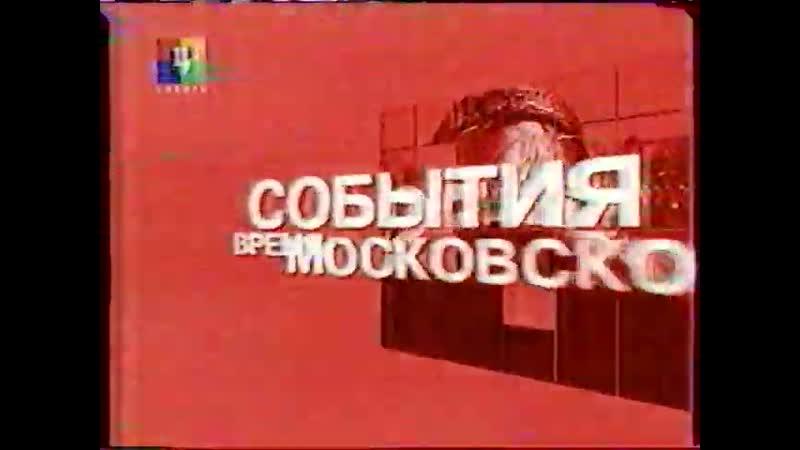 Заставки программы События Время московское ТВЦ 2005 2006