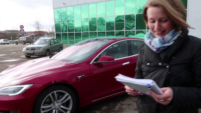Обзор Tesla Model S 75D 2017 Woman Review Tesla Model S 75D 2017