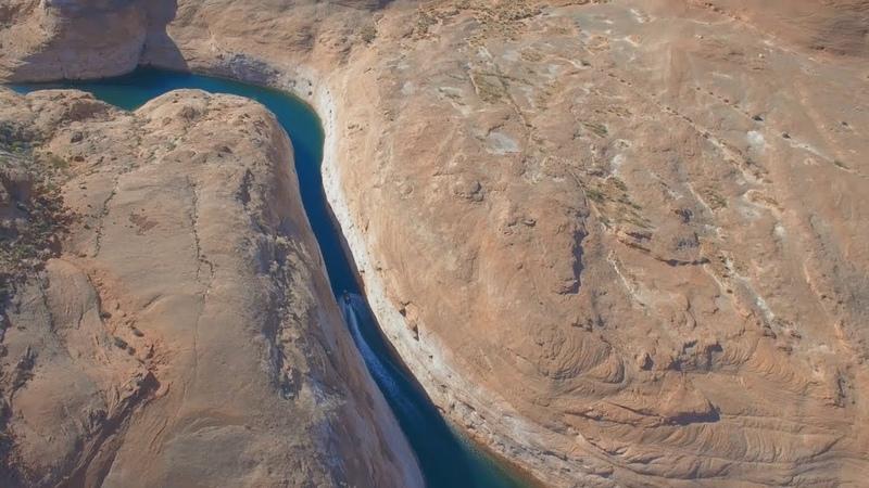 Jet Ski Slot Canyon Aerial View Lake Powell (Arizona   Utah   USA) Drone w/ Sea-Doo DJI HD