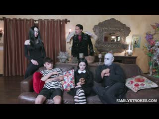 [familystrokes] kate bloom, audrey noir — addams family orgy