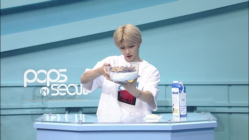 Pops in Seoul Lets Make IZONE's choco tang With Felix