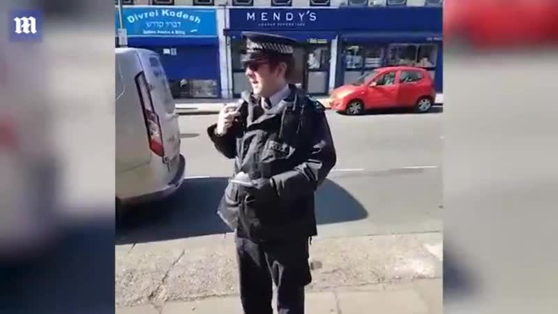 Brit police at his best while white boys and girls are raped