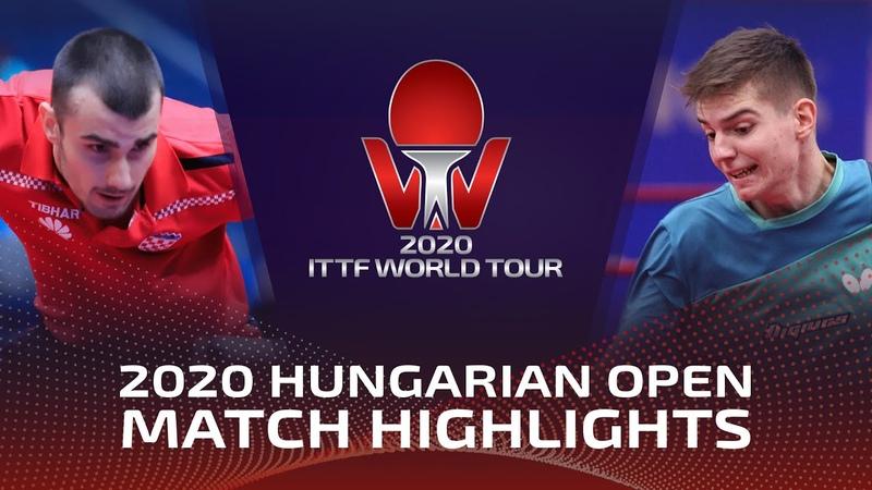 Tomislav Pucar vs Rares Sipos 2020 ITTF Hungarian Open Highlights FS