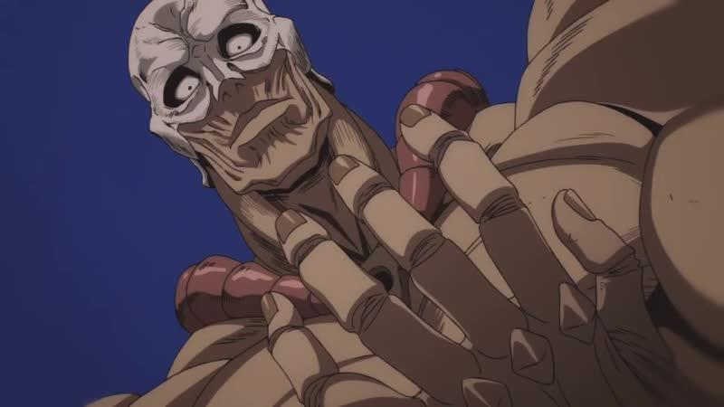 огромный голый мужик из аниме ванпанчмен орёт как йоши
