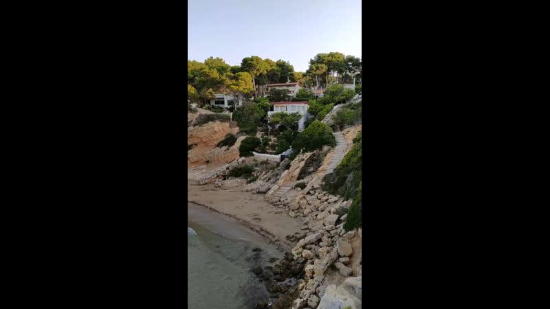 Spain Costa Dorada Cala De La Penya Tallada @maximtraulko on Instagram