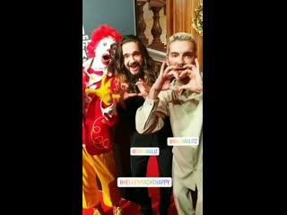 Kaulitz Twins and Georg Listing at McDonald's Benefitzgala -