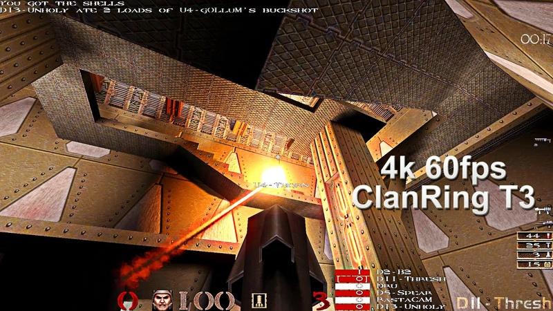 DeathRow Vs Unforgiven - ClanRing T3 Quake1 1998 Finals Games 2 and 3 (Thresh B2 POVs) on DM3 4k60