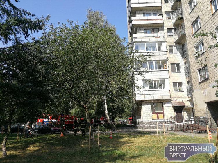 Спасатели тушили балкон в доме на ул. Набережной Ф.Скорины