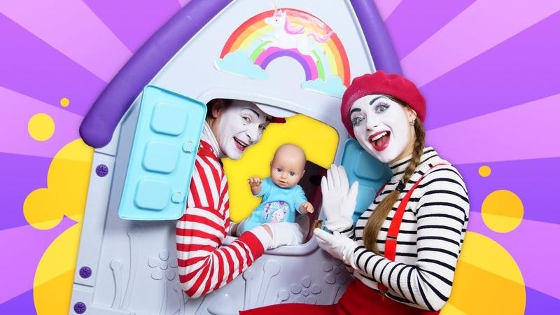 Tolles Video mit Clowns Neues Haus für die Baby Born Puppe Lustiges Spielzeug Video für Kinder