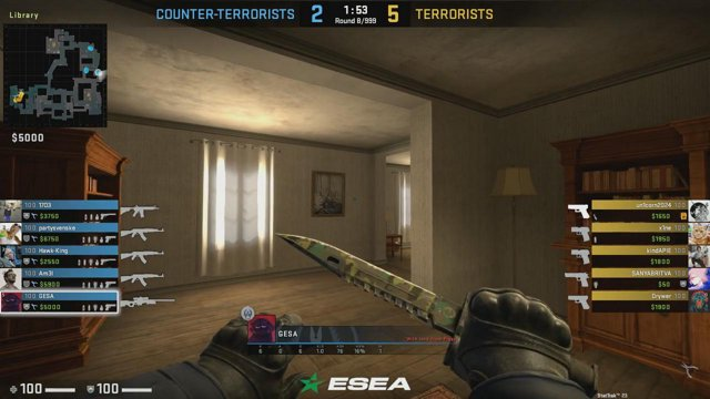 GESA - gets a 4k (3 AWP kills, 1 HE Grenade kill)