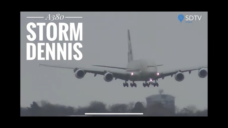 Storm Dennis London Great Flying- Turbulent weather- great pilots