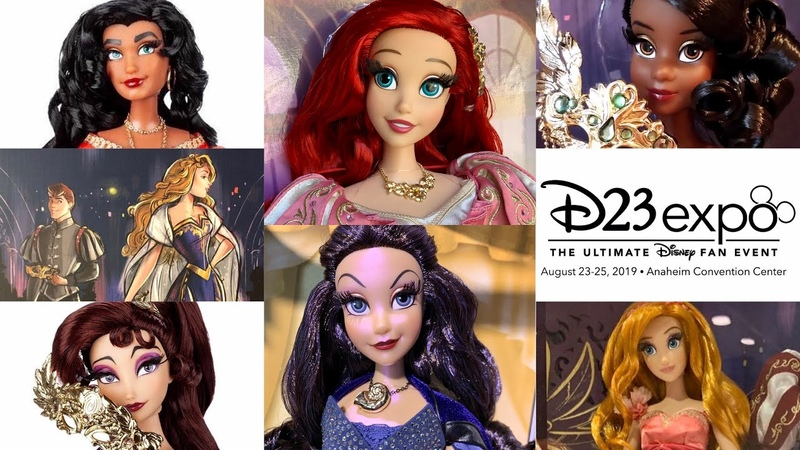 D23 Expo Disney Store quick Merchandise video (Little Mermaid and Designer dolls)