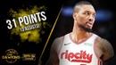 Damian Lillard Full Highlights 2019.12.18 vs Warriors - 31 Pts, 13 Asts!   FreeDawkins