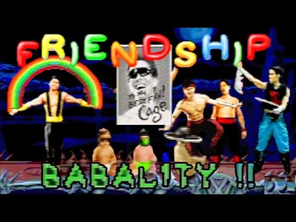 Mortal Kombat II All Friendships Babalities Sega 32x