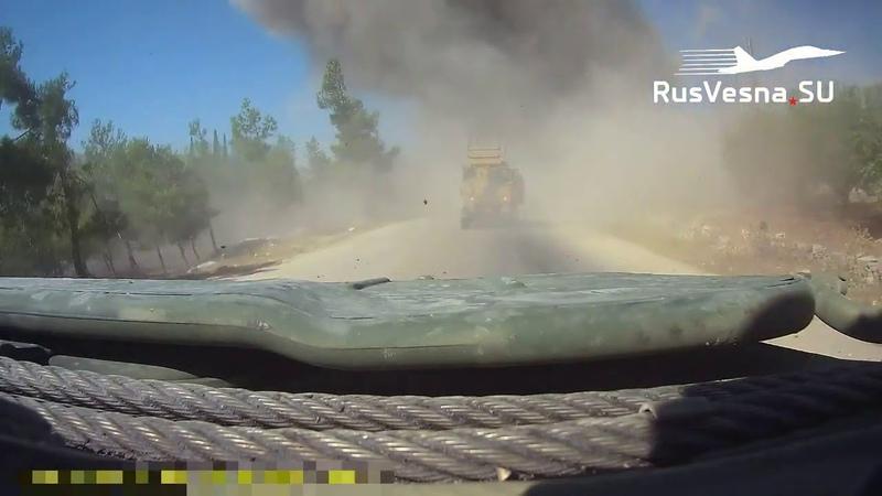 فيديو يظهر لحظة التفجير الذي استهدف الدورية الروسية التركية صباح اليوم على طريق M4