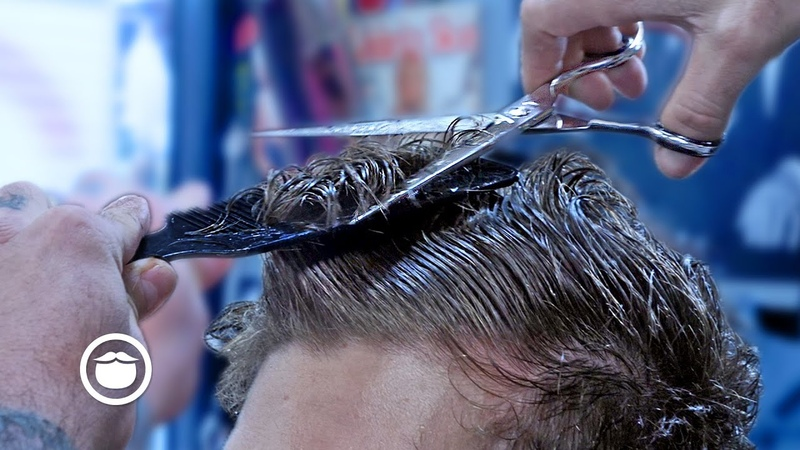 Curly Haired Client Loses His Long Locks | The Dapper Den